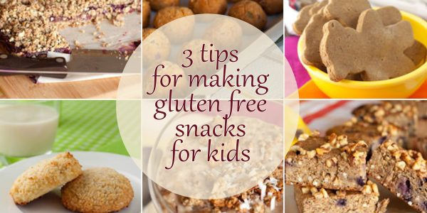 Tips for making gluten free snacks for kids