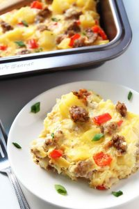 breakfast-casserole-with-eggs-potatoes-and-sausages